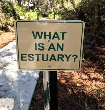 Estuary Sign