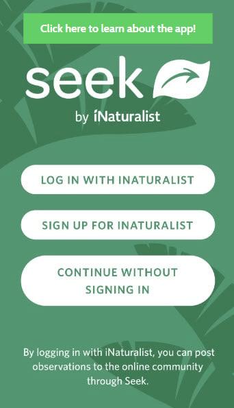 Seek by iNaturalist app screen